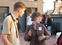 Matthias discusses with Ingrid Melve (UNINETT) and Bettina Buth (HAW Hamburg) at the speakers reception TNC'06